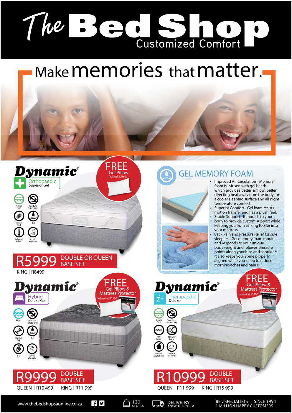 lowest prices for all mattress sizes Rustenburg